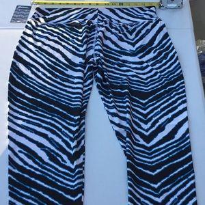 🏈 NWT Carolina Panthers Zebra Color ZubazLegging